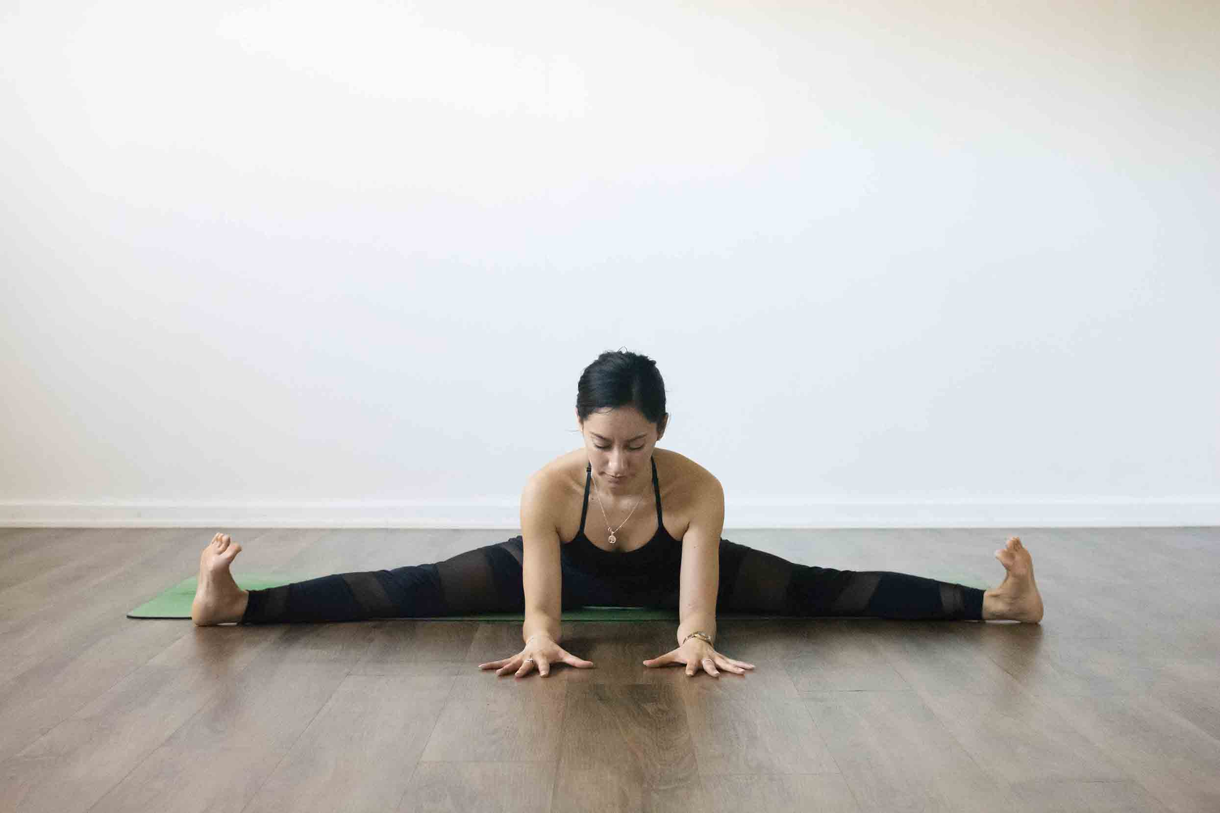 Upavistha Konasana - Wide-Angle Seated Forward Bend Pose - YOGATEKET