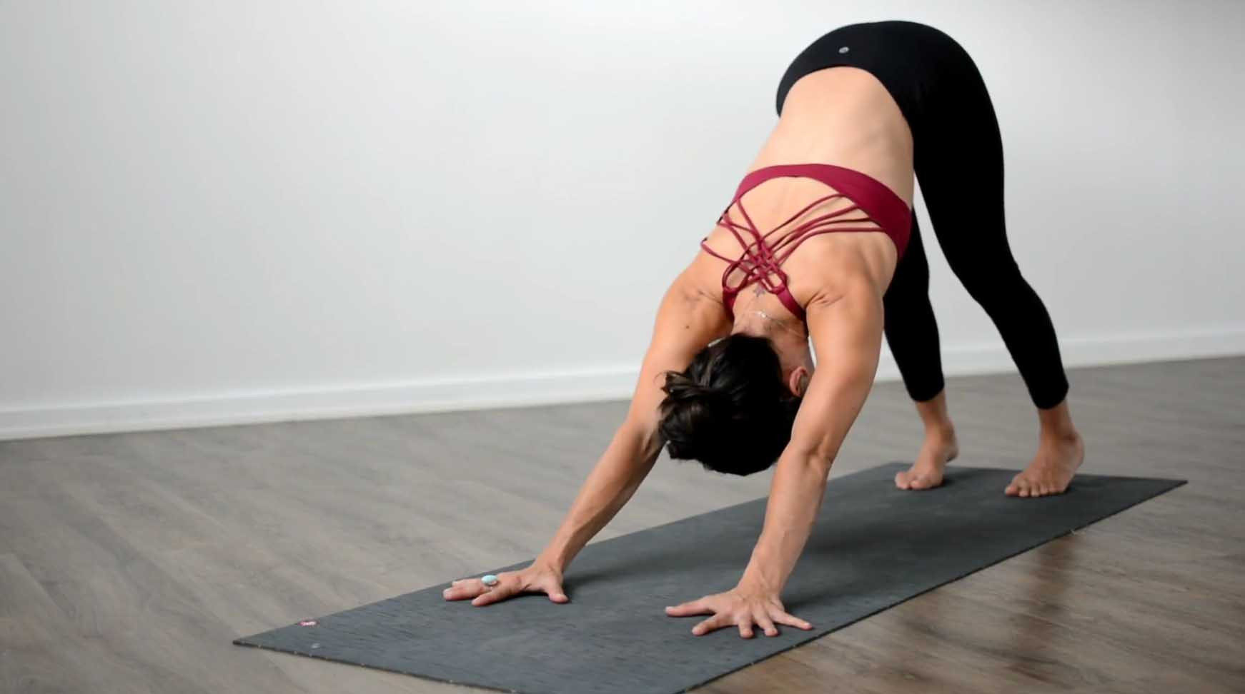 Arm position - Downward facing dog