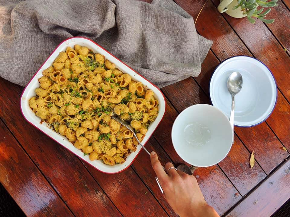 Thyme + Caraway Broccoli Pasta Bake