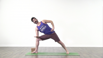 screenshot from online yoga class with yoga teacher Daniel Scott at Yogateket yoga studio in Uppsala Sweden