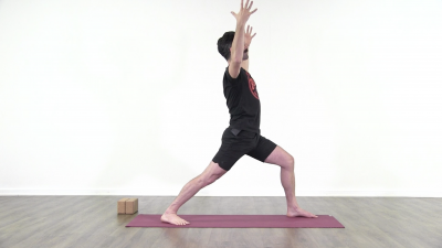 screenshot from online yoga class with Daniel Scott at Yogateket yoga studio in Uppsala Sweden