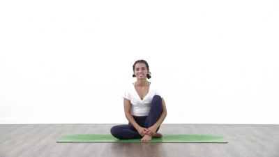 screenshot from online yoga class  at Yogateket yoga studio in Uppsala sweden