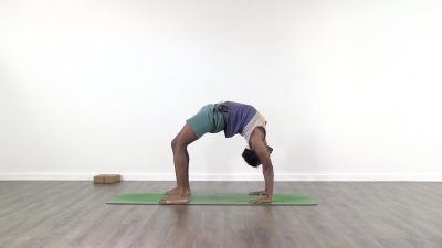Full wheel pose yoga