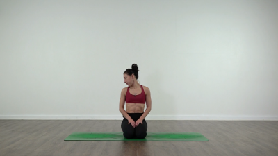 Neck stretch yoga
