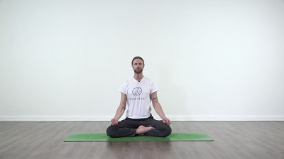Yoga practice at Yogateket with guy