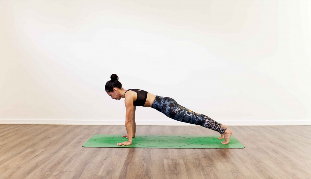 Plank pose yoga strengthening for scapula